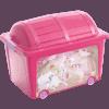 Caixa Organizadora Princesa Rosa - Curver