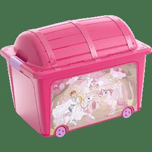 Caixa Organizadora 50l Princesa Curver Pink Rosa